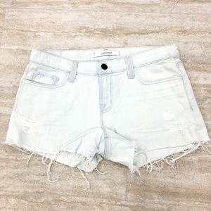 New J Brand Distress Stretch Bleached Shorts SZ:31
